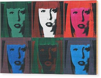 6 Artpop Aka Lady Gaga Wood Print by David K Parker