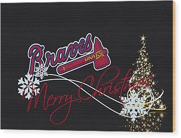 Atlanta Braves Wood Print by Joe Hamilton