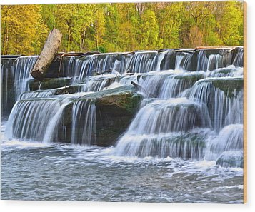 Berea Falls Wood Print by Frozen in Time Fine Art Photography