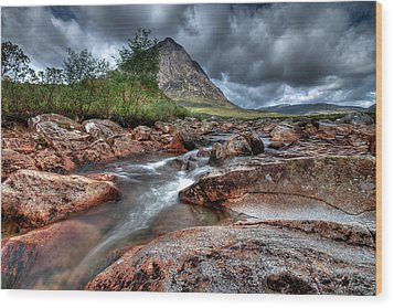 Buachaille Etive Mor Wood Print by Fiona Messenger