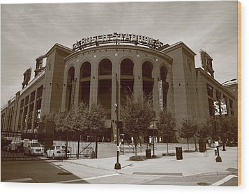 Busch Stadium - St. Louis Cardinals Wood Print by Frank Romeo