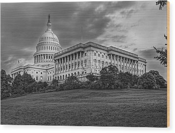 Wood Print featuring the photograph Capitol Building by Peter Lakomy