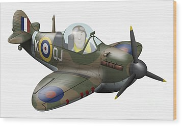 Cartoon Illustration Of A Royal Air Wood Print by Inkworm