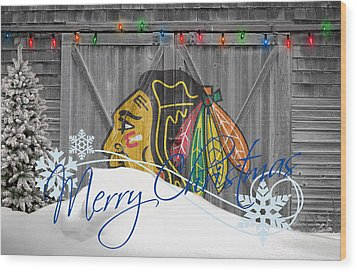 Chicago Blackhawks Wood Print by Joe Hamilton