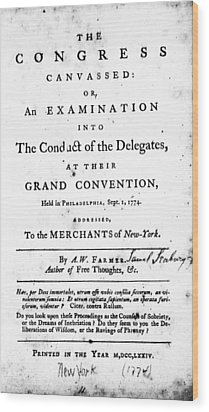 Continental Congress, 1774 Wood Print by Granger