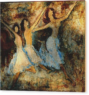 Dance Dance Dance Wood Print by Anand Swaroop Manchiraju