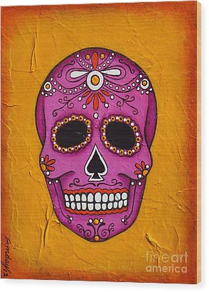Day Of The Dead Wood Print by Joseph Sonday
