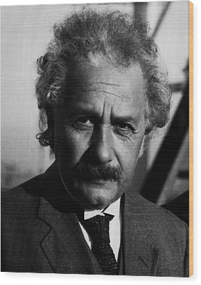 Dr. Albert Einstein Wood Print by Retro Images Archive