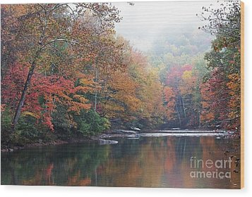 Fall Color Williams River Wood Print by Thomas R Fletcher