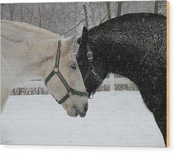 Love Keeps Us Warm  Wood Print