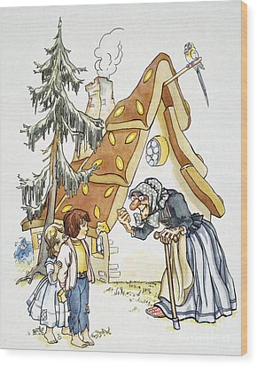 Grimm: Hansel And Gretel Wood Print by Granger