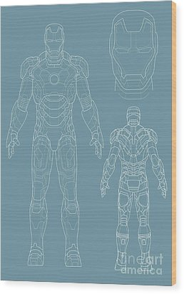 Iron Man Wood Print by Caio Caldas