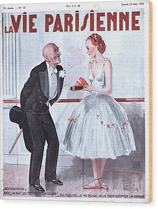 La Vie Parisienne 1935 1930s France Wood Print by The Advertising Archives