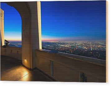 Los Angeles As Seen From The Griffith Observatory Wood Print
