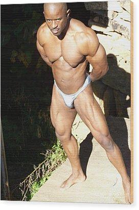 Male Muscle  Wood Print by Jake Hartz