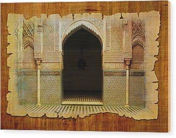 Medina Of Faz Wood Print by Catf