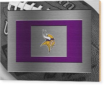 Minnesota Vikings Wood Print by Joe Hamilton