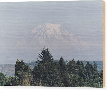 Wood Print featuring the photograph Mount Rainier  by Myrna Walsh