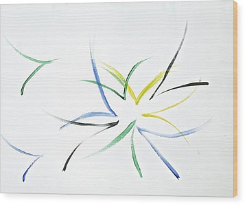 Wood Print featuring the painting Simplicity by Tracey Myers