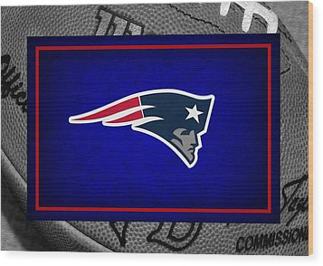 New England Patriots Wood Print by Joe Hamilton