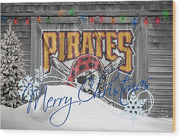 Pittsburgh Pirates Wood Print by Joe Hamilton