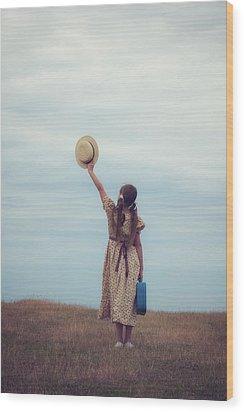 Refugee Girl Wood Print by Joana Kruse