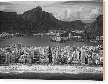 Rio De Janeiro City Wood Print