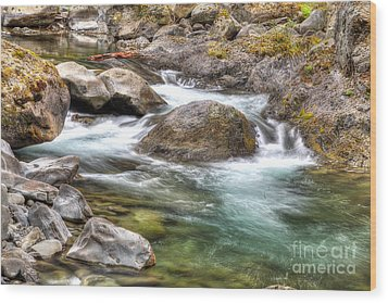 Sol Duc River Wood Print by Twenty Two North Photography