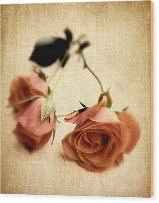 Vintage Rose Wood Print by Jessica Jenney