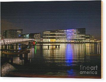 Waterfront Wood Print by Jorgen Norgaard