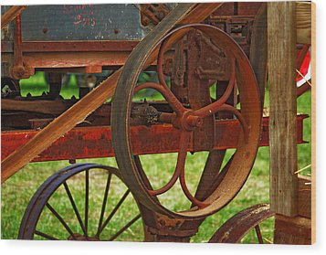 Wheels Of Time Wood Print by Rowana Ray