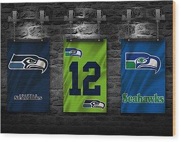 Seattle Seahawks Wood Print