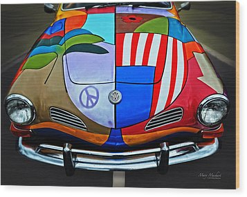 60s Wild Ride Wood Print by Mary Machare