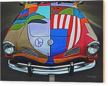 60s Wild Ride Wood Print