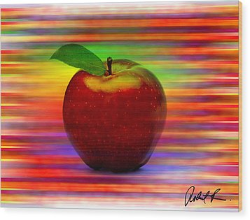 60x45 Print Or Canvas Wrap The Apple By Robert R Signed Prints Wood Print