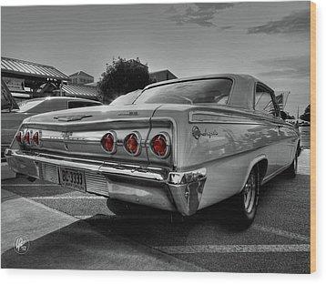 '62 Impala Ss 001 Wood Print by Lance Vaughn