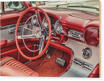 62 Thunderbird Interior Wood Print
