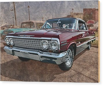 '63 Impala Wood Print by Victor Montgomery