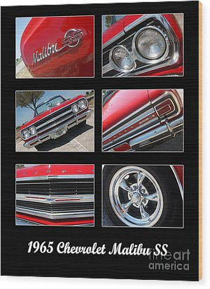 65 Malibu Ss Poster Wood Print by Gary Gingrich Galleries
