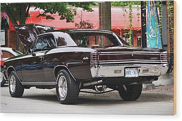 67' Chevelle Classic Wood Print by Al Fritz