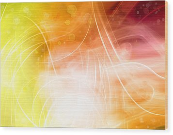 Abstract Background Wood Print by Les Cunliffe