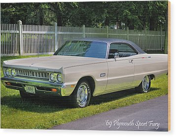'69 Plymouth Sport Fury Wood Print by Thomas Schoeller