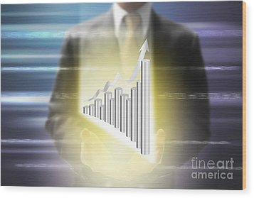 Business Abstract Wood Print by Atiketta Sangasaeng