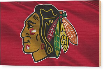 Chicago Blackhawks Uniform Wood Print by Joe Hamilton