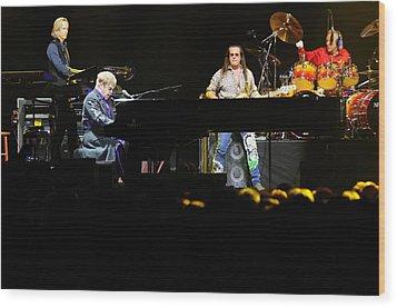 Elton John Wood Print by Jenny Potter
