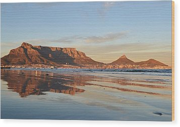 Good Morning Cape Town Wood Print by Werner Lehmann