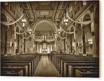 Holy Cross Catholic Church Wood Print