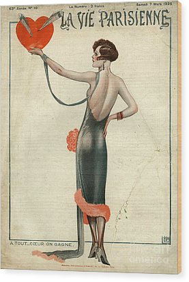 La Vie Parisienne  1925  1920s France Wood Print by The Advertising Archives