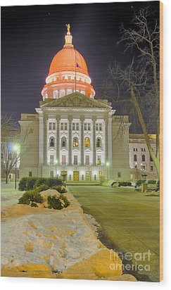 Madison Capitol Wood Print by Steven Ralser