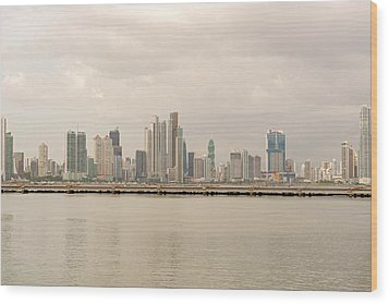 Panama City Wood Print by Marek Poplawski